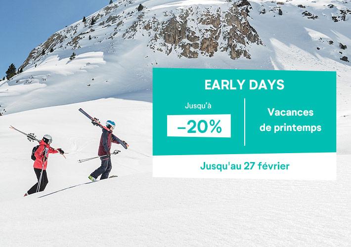 vacances de printemps - Jusqu'à -20% de réduction